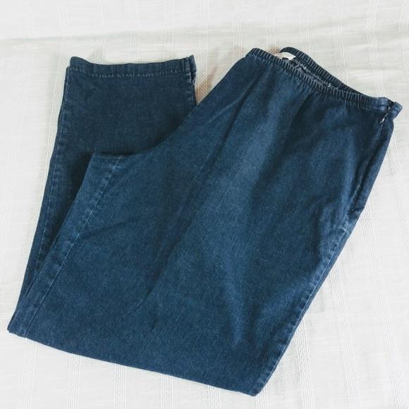 7771db817b Eileen Fisher Denim - Eileen Fisher Stretch Side Zip Jeans Size XL Blue
